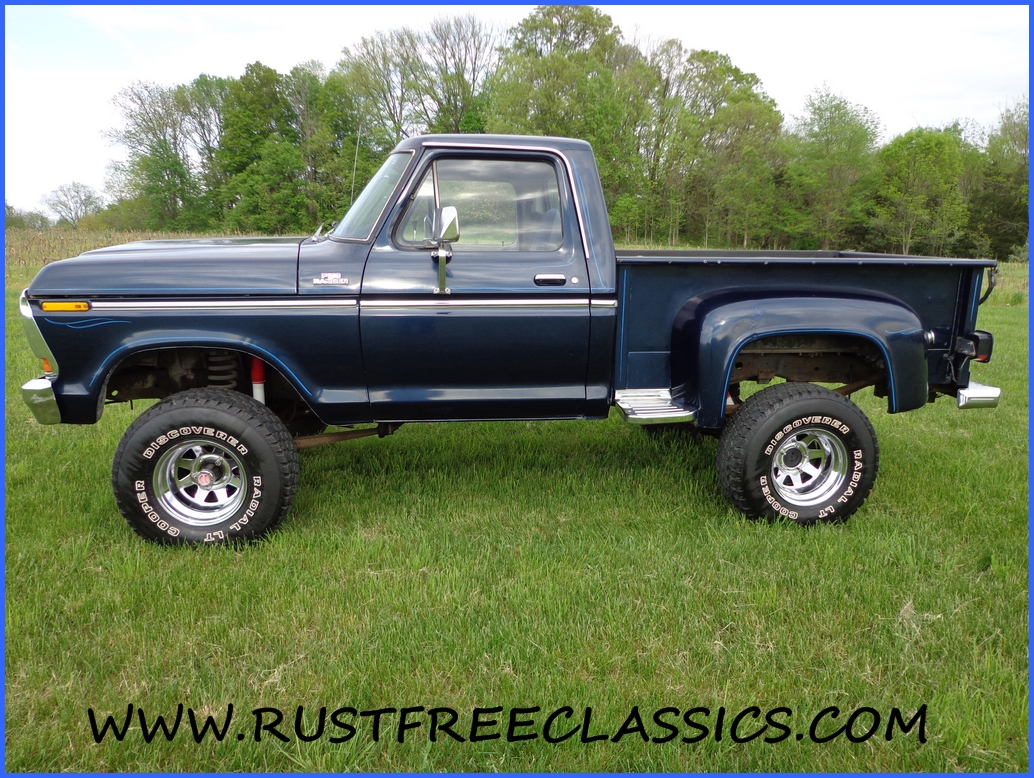 1978 78 F150 Ford 4x4 short bed step side Ranger Blue
